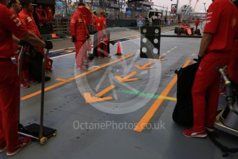 World © Octane Photographic Ltd. Formula 1 – Singapore GP - Practice 3. Scuderia Ferrari SF90 – Sebastian Vettel. Marina Bay Street Circuit, Singapore. Saturday 21st September 2019.