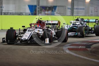 World © Octane Photographic Ltd. Formula 1 – Singapore GP - Qualifying. Alfa Romeo Racing C38 – Antonio Giovinazzi. Marina Bay Street Circuit, Singapore. Saturday 21st September 2019.