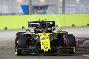 World © Octane Photographic Ltd. Formula 1 – Singapore GP - Qualifying. Renault Sport F1 Team RS19 – Nico Hulkenberg. Marina Bay Street Circuit, Singapore. Saturday 21st September 2019