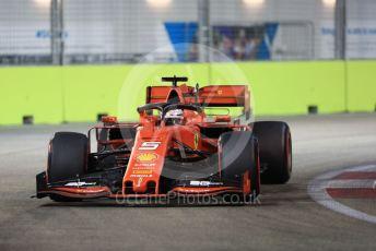 World © Octane Photographic Ltd. Formula 1 – Singapore GP - Qualifying. Scuderia Ferrari SF90 – Sebastian Vettel. Marina Bay Street Circuit, Singapore. Saturday 21st September 2019.