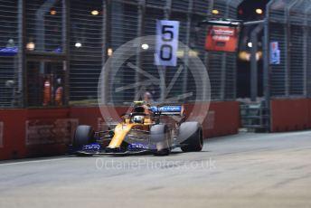 World © Octane Photographic Ltd. Formula 1 – Singapore GP - Qualifying. McLaren MCL34 – Lando Norris. Marina Bay Street Circuit, Singapore. Saturday 21st September 2019.