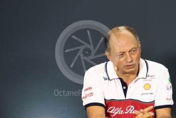 World © Octane Photographic Ltd. Formula 1 - Singapore GP – Friday FIA Team Press Conference. Frederic Vasseur – Team Principal and CEO of Sauber Motorsport AG. Marina Bay Street Circuit, Singapore. Friday 20th September 2019.