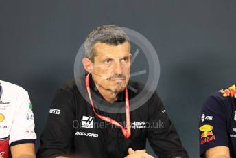 World © Octane Photographic Ltd. Formula 1 - Singapore GP – Friday FIA Team Press Conference. Guenther Steiner - Team Principal of Haas F1 Team. Marina Bay Street Circuit, Singapore. Friday 20th September 2019.