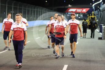 World © Octane Photographic Ltd. Formula 1 – Singapore GP - Track Walk. Alfa Romeo Racing C38 – Antonio Giovinazzi. Marina Bay Street Circuit, Singapore. Thursday 19th September 2019.