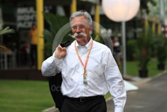 World © Octane Photographic Ltd. Formula 1 - Singapore GP - Paddock. Chase Carey - Chief Executive Officer of the Formula One Group. Marina Bay Street Circuit, Singapore. Thursday 19th September 2019.