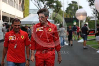 World © Octane Photographic Ltd. Formula 1 - Singapore GP - Paddock. Mattia Binotto – Team Principal of Scuderia Ferrari. Marina Bay Street Circuit, Singapore. Thursday 19th September 2019.