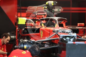 World © Octane Photographic Ltd. Formula 1 – Singapore GP - Paddock. Scuderia Ferrari SF90.  Marina Bay Street Circuit, Singapore. Thursday 19th September 2019.