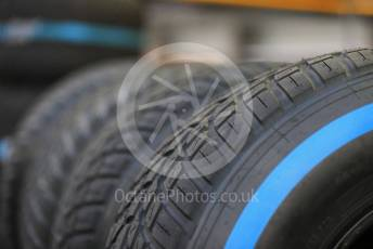 World © Octane Photographic Ltd. Formula 1 – Singapore GP - Paddock. Renault Sport F1 Team RS19 tyres. Marina Bay Street Circuit, Singapore. Thursday 19th September 2019.