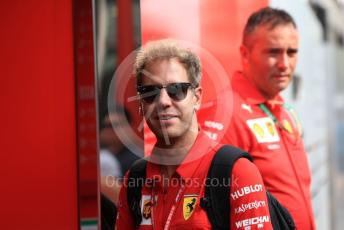 World © Octane Photographic Ltd. Formula 1 – Singapore GP - Paddock. Scuderia Ferrari SF90 – Sebastian Vettel. Marina Bay Street Circuit, Singapore. Saturday 21st September 2019.