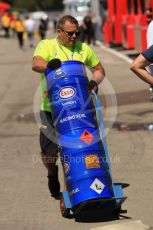 World © Octane Photographic Ltd. Formula 1 – Spanish In-season testing. Red Bull Racing Esso fuel drums in the paddock. Circuit de Barcelona Catalunya, Spain. Tuesday 14th May 2019.