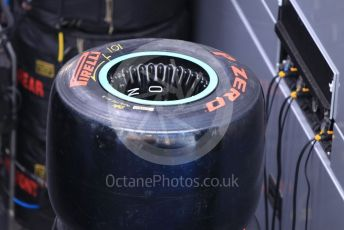 World © Octane Photographic Ltd. Formula 1 – Spanish In-season testing. Mercedes AMG Petronas Motorsport AMG F1 W10 EQ Power+ wheels and tyres. Circuit de Barcelona Catalunya, Spain. Tuesday 14th May 2019.