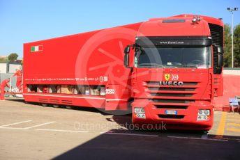 World © Octane Photographic Ltd. Formula 1 – Spanish In-season testing. Scuderia Ferrari Iveco transporter. Circuit de Barcelona Catalunya, Spain. Tuesday 14th May 2019.