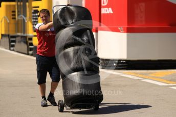 World © Octane Photographic Ltd. Formula 1 – Spanish In-season testing. Alfa Romeo Racing tyres. Circuit de Barcelona Catalunya, Spain. Wednesday 15th May 2019.