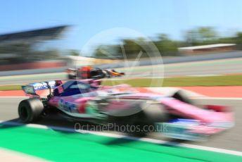 World © Octane Photographic Ltd. Formula 1 – Spanish In-season Pirelli testing. SportPesa Racing Point RP19 - Lance Stroll and Aston Martin Red Bull Racing RB15 – Daniel Ticktum. Circuit de Barcelona Catalunya, Spain. Wednesday 15th May 2019.