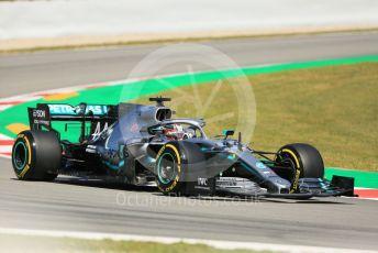 World © Octane Photographic Ltd. Formula 1 – Spanish GP. Practice 1. Mercedes AMG Petronas Motorsport AMG F1 W10 EQ Power+ - Lewis Hamilton. Circuit de Barcelona Catalunya, Spain. Friday 10th May 2019.