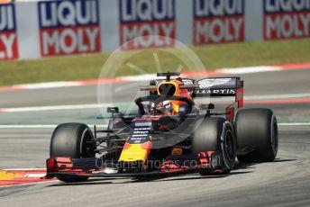 World © Octane Photographic Ltd. Formula 1 – Spanish GP. Practice 1. Aston Martin Red Bull Racing RB15 – Max Verstappen. Circuit de Barcelona Catalunya, Spain. Friday 10th May 2019.