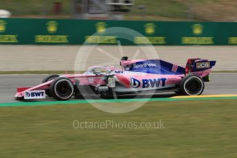 World © Octane Photographic Ltd. Formula 1 – Spanish GP. Practice 2. SportPesa Racing Point RP19 - Sergio Perez. Circuit de Barcelona Catalunya, Spain. Friday 10th May 2019.