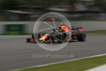 World © Octane Photographic Ltd. Formula 1 – Spanish GP. Practice 2. Aston Martin Red Bull Racing RB15 – Max Verstappen. Circuit de Barcelona Catalunya, Spain. Friday 10th May 2019.