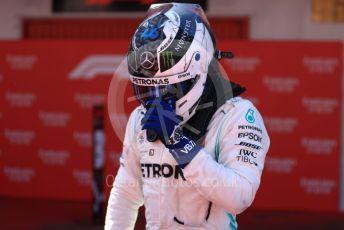 World © Octane Photographic Ltd. Formula 1 – Spanish GP. Parc Ferme. Mercedes AMG Petronas Motorsport AMG F1 W10 EQ Power+ - Valtteri Bottas. Circuit de Barcelona Catalunya, Spain. Sunday 12th May 2019.