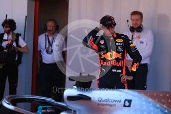 World © Octane Photographic Ltd. Formula 1 – Spanish GP. Parc Ferme. Aston Martin Red Bull Racing RB15 – Max Verstappen. Circuit de Barcelona Catalunya, Spain. Sunday 12th May 2019.
