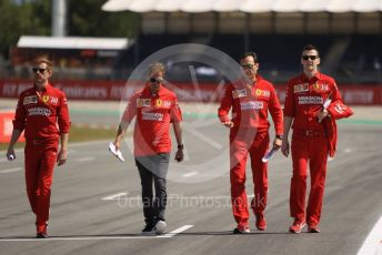 World © Octane Photographic Ltd. Formula 1 – Spanish GP. Thursday Track Walk. Scuderia Ferrari SF90 – Sebastian Vettel. Circuit de Barcelona Catalunya, Spain. Thursday 9th May 2019.