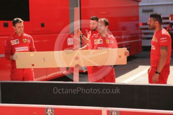 World © Octane Photographic Ltd. Formula 1 – Spanish GP. Thursday Setup. Scuderia Ferrari SF90. Circuit de Barcelona Catalunya, Spain. Thursday 9th May 2019.