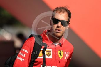 World © Octane Photographic Ltd. Formula 1 – Spanish GP. Thursday Setup. Scuderia Ferrari SF90 – Sebastian Vettel. Circuit de Barcelona Catalunya, Spain. Thursday 9th May 2019.