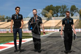 World © Octane Photographic Ltd. Formula 1 – Spanish GP. Thursday Track Walk. ROKiT Williams Racing – George Russell. Circuit de Barcelona Catalunya, Spain. Thursday 9th May 2019.