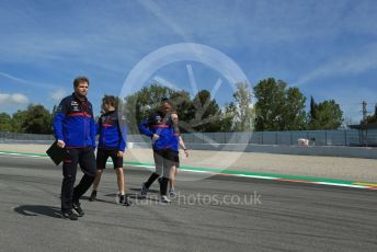 World © Octane Photographic Ltd. Formula 1 – Spanish GP. Thursday Track Walk. Scuderia Toro Rosso STR14 – Daniil Kvyat. Circuit de Barcelona Catalunya, Spain. Thursday 9th May 2019.