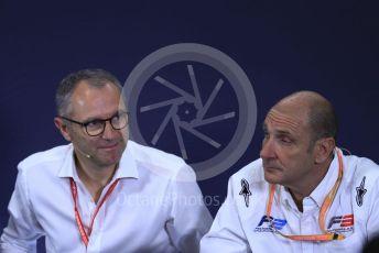World © Octane Photographic Ltd. Formula 1 – Spanish GP. F2 18inch tyre Press Conference.  Stefano Domenicali – President of FIA Single-Seater Commission, Bruno Michel – CEO, FIA Formula 2 Championship. Circuit de Barcelona Catalunya, Spain. Thursday 9th May 2019.