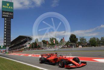 World © Octane Photographic Ltd. Formula 1 – Spanish GP. Qualifying. Scuderia Ferrari SF90 – Sebastian Vettel. Circuit de Barcelona Catalunya, Spain. Saturday 11th May 2019.