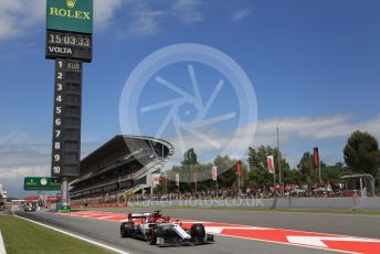 World © Octane Photographic Ltd. Formula 1 – Spanish GP. Qualifying. Alfa Romeo Racing C38 – Kimi Raikkonen. Circuit de Barcelona Catalunya, Spain. Saturday 11th May 2019.