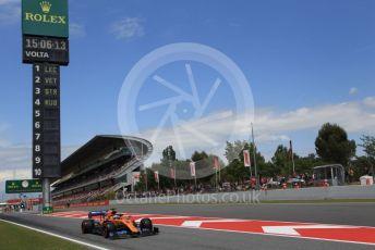 World © Octane Photographic Ltd. Formula 1 – Spanish GP. Qualifying. McLaren MCL34 – Carlos Sainz. Circuit de Barcelona Catalunya, Spain. Saturday 11th May 2019.