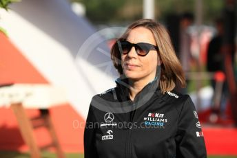 World © Octane Photographic Ltd. Formula 1 - Spanish GP.  Friday Paddock. Claire Williams - Deputy Team Principal of ROKiT Williams Racing. Circuit de Barcelona Catalunya, Spain. Friday 10th May 2019.