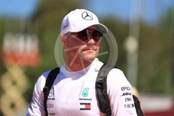 World © Octane Photographic Ltd. Formula 1 – Spanish GP. Paddock. Mercedes AMG Petronas Motorsport AMG F1 W10 EQ Power+ - Valtteri Bottas. Circuit de Barcelona Catalunya, Spain. Sunday 12th May 2019.