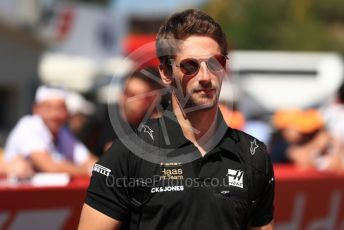 World © Octane Photographic Ltd. Formula 1 – Spanish GP. Paddock. Rich Energy Haas F1 Team VF19 – Romain Grosjean. Circuit de Barcelona Catalunya, Spain. Sunday 12th May 2019.