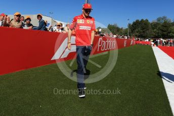 World © Octane Photographic Ltd. Formula 1 – Spanish GP. Paddock. Scuderia Ferrari SF90 – Charles Leclerc. Circuit de Barcelona Catalunya, Spain. Sunday 12th May 2019.