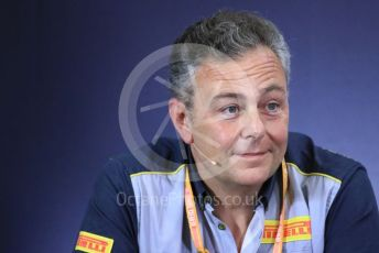 World © Octane Photographic Ltd. Formula 1 – Spanish GP. FIA Team Press Conference. Mario Isola – Pirelli Head of Car Racing. Circuit de Barcelona Catalunya, Spain. Friday 10th May 2019.