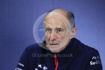World © Octane Photographic Ltd. Formula 1 – Spanish GP. FIA Team Press Conference. Franz Tost – Team Principal of Scuderia Toro Rosso. Circuit de Barcelona Catalunya, Spain. Friday 10th May 2019.