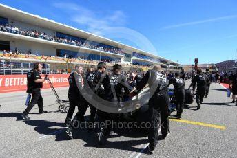 World © Octane Photographic Ltd. Formula 1 – United States GP - Grid. Haas F1 Team VF19 – Romain Grosjean. Circuit of the Americas (COTA), Austin, Texas, USA. Sunday 3rd November 2019.