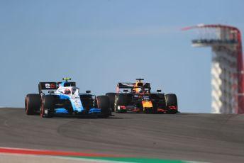 World © Octane Photographic Ltd. Formula 1 – United States GP - Practice 1. ROKiT Williams Racing FW42 – Robert Kubica and Aston Martin Red Bull Racing RB15 – Max Verstappen. Circuit of the Americas (COTA), Austin, Texas, USA. Friday 1st November 2019.