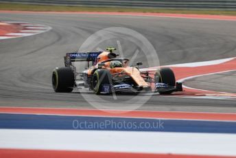 World © Octane Photographic Ltd. Formula 1 – United States GP - Practice 2. McLaren MCL34 – Lando Norris. Circuit of the Americas (COTA), Austin, Texas, USA. Friday 1st November 2019.