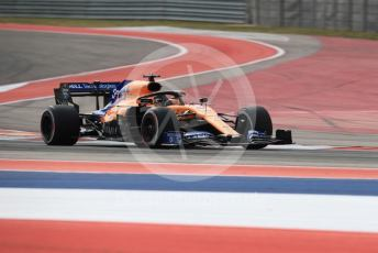 World © Octane Photographic Ltd. Formula 1 – United States GP - Practice 2. McLaren MCL34 – Carlos Sainz. Circuit of the Americas (COTA), Austin, Texas, USA. Friday 1st November 2019.