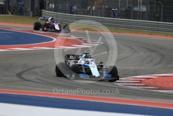 World © Octane Photographic Ltd. Formula 1 – United States GP - Practice 2. ROKiT Williams Racing FW 42 – George Russell and Scuderia Toro Rosso STR14 – Daniil Kvyat. Circuit of the Americas (COTA), Austin, Texas, USA. Friday 1st November 2019.
