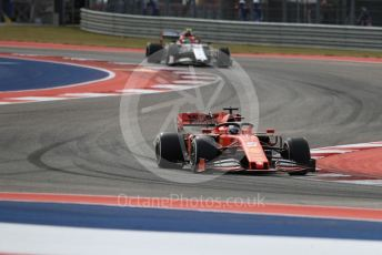World © Octane Photographic Ltd. Formula 1 – United States GP - Practice 2. Scuderia Ferrari SF90 – Sebastian Vettel and Alfa Romeo Racing C38 – Antonio Giovinazzi. Circuit of the Americas (COTA), Austin, Texas, USA. Friday 1st November 2019.