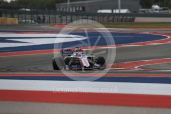 World © Octane Photographic Ltd. Formula 1 – United States GP - Practice 2. SportPesa Racing Point RP19 - Sergio Perez. Circuit of the Americas (COTA), Austin, Texas, USA. Friday 1st November 2019.