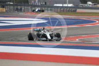 World © Octane Photographic Ltd. Formula 1 – United States GP - Practice 2. Mercedes AMG Petronas Motorsport AMG F1 W10 EQ Power+ - Lewis Hamilton and ROKiT Williams Racing FW 42 – George Russell. Circuit of the Americas (COTA), Austin, Texas, USA. Friday 1st November 2019.