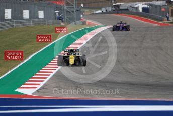 World © Octane Photographic Ltd. Formula 1 – United States GP - Practice 2. Renault Sport F1 Team RS19 – Nico Hulkenberg and Scuderia Toro Rosso STR14 – Daniil Kvyat. Circuit of the Americas (COTA), Austin, Texas, USA. Friday 1st November 2019.