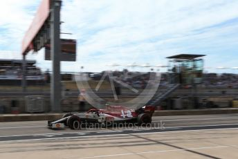 World © Octane Photographic Ltd. Formula 1 – United States GP - Practice 3. Alfa Romeo Racing C38 – Antonio Giovinazzi. Circuit of the Americas (COTA), Austin, Texas, USA. Saturday 2nd November 2019.