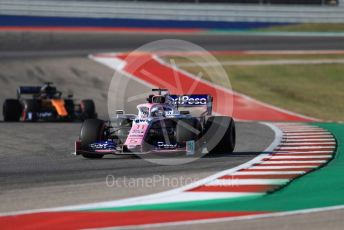 World © Octane Photographic Ltd. Formula 1 – United States GP - Quailfying. SportPesa Racing Point RP19 - Sergio Perez. Circuit of the Americas (COTA), Austin, Texas, USA. Saturday 2nd November 2019.